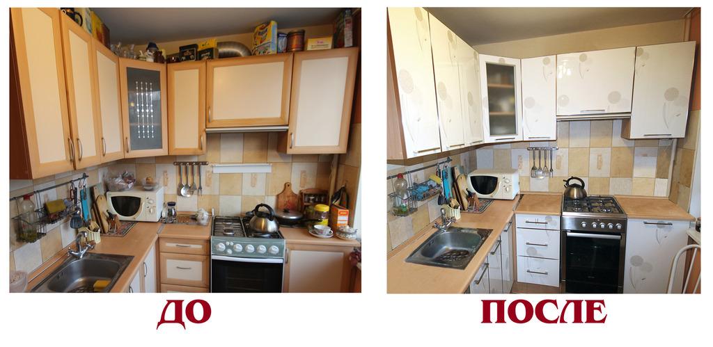 Как обновить кухонный гарнитур своими руками фото